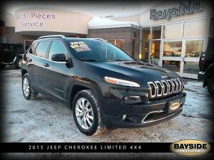 2015 Jeep Cherokee Limited LEATHER AND PANORAMIC ROOF!