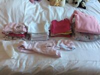 3 x Bundles of Baby Girl Clothing - Newborn to 12 months