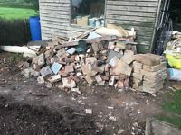 Free pile of blocks/rubble
