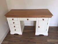 White and oak - excellent condition desk - £195