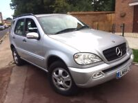 MERCERDES ML350 3.7 PETROL 2004 (54) AUTOMATIC LOW MILEAGE 2 FORMER OWNER CLEAN FULL SERVICE HISTORY