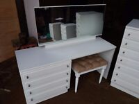 Modern Bedroom furniture including dressing table and stool