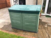 Plastic garden storage lockers choice of 2 for sale