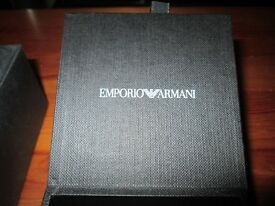 Armani bracelet, leather and silver clasp, very rare large beautiful mens bracelet, cost £220 new.