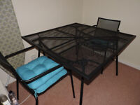 Garden furniture (table and 4 chairs)