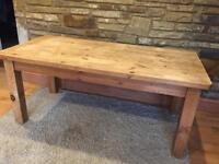 Quality solid pine dining table