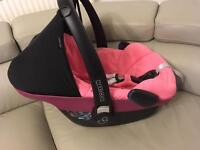 Maxi Cosi pebble pink car seat