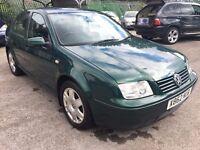 Volkswagen Bora 1.6i SE, 2000/X Reg, BRAND NEW MOT & Clutch, Service History, 4 Door Saloon, Green