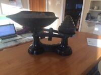 Original Vintage Black weighing scales
