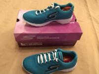 Skechers Go Train Hype - Turquoise. Size 2.