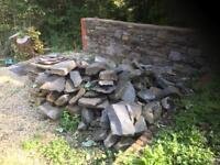 Reclaimed dry stone