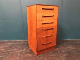 Tallboy Chest of Drawers by GPlan. Retro Vintage Mid Century