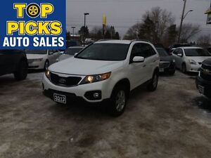 2012 Kia Sorento LX, FWD, POWER GROUP, LOW MILEAGE!