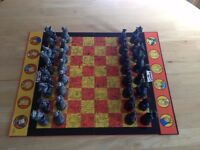 The Simpsons Chess Set - Antiqued Metal-Style