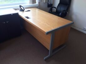 2 Office desks with pedestals, used but in good condition