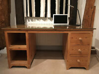 Solid oak desk/s with drawers and shelves made by professional joiner - Aylesbury, Bucks