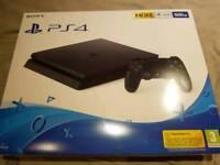 PS4 brand new still sealed 500gb black...500gb....