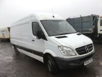 Mercedes sprinter w906 Euro 4 2008 breaking engine gearbox rear axel prop shaft spring wheel door