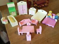 Dolls house wooden furniture