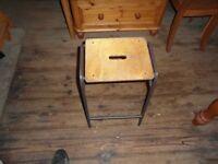 Metal lab stool