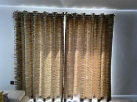 Designer made curtains villa Nova Kabuki Bonbori V3043/02 Charcoal/Dijon fabric