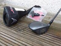 Callaway X Hot 2 Adjustable Driver. Aldila 55 Regular Flex Shaft. With headcover and adjustment tool