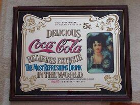 Framed Coca Cola mirror