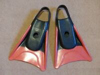 BODYBOARDING FINS - LARGE SIZE - Very Good Condition