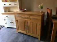 "Oak furniture land ""Rivermead"" sideboard"