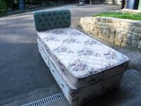 Single Divan with mattress and headboard