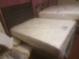 Kingsize Bed - Dream Vendor (Brighton) Kingsize Mattress & 4 Drawer Divan Bed Base + Headboard