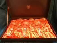 Set of 6 Webb Crystal glasses