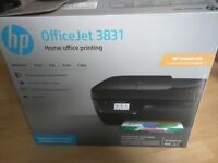 NEW PRINTER HP Office Jet 3831 All in One Printer. Used few times.