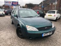 02 FORD MONDEO 2.0 LX TDCI IN GREEN *MOT TILL MAY 2018* £495