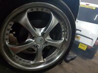 "17"" sports rims with brand new spare"