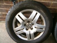 vw alloys wheels 195 65 15 good tyre x 4 in good condition