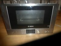 Bosch Serie | 8 HMT85GL53B brushed steel Compact microwave oven with grill.USED