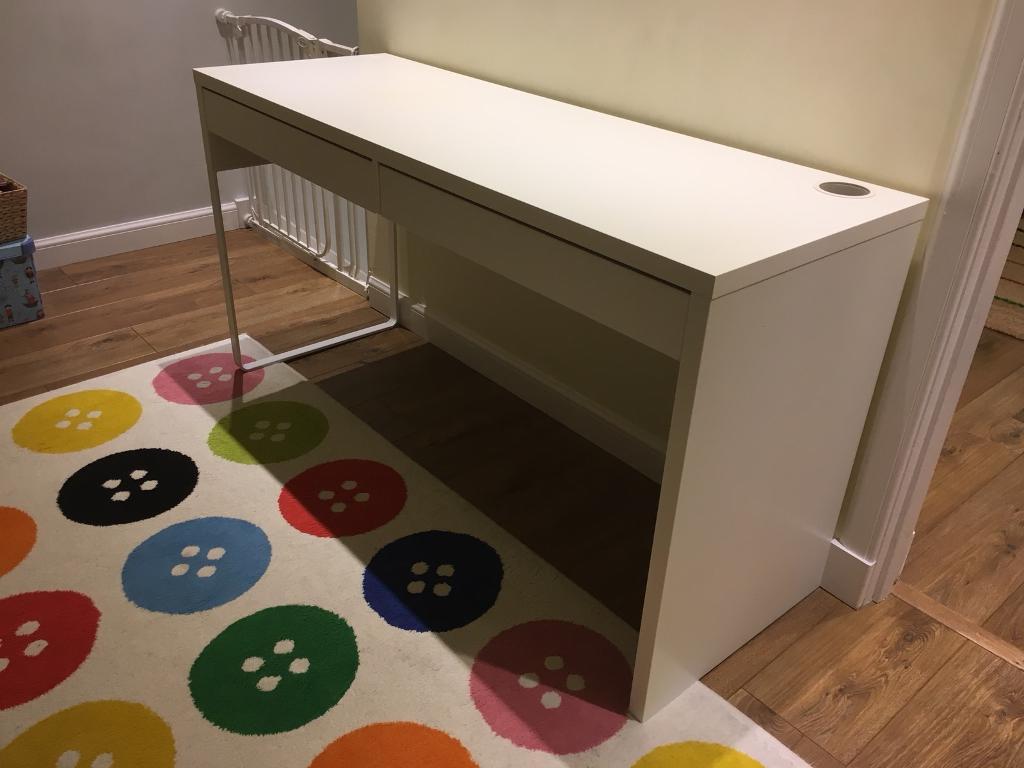 Ikea white micke double desk in shandon edinburgh gumtree