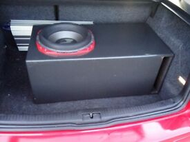 orion hcca 12inch subwoofer with vxincar bass box