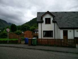 Two bedroom house to rent. Fort William.