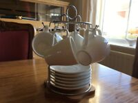 Espresso Cups and Saucer Set