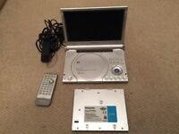 Panasonic portable DVD player with extra battery