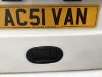 Private number plate AC51VAN