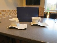 Villeroy and Boch New wave Cups and Saucers (2)