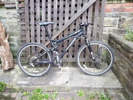Specialized Full Suspension Mountain Bike, Hope Hydraulic Disc Brake Upgrade - size small