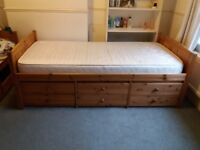 2 Argos Cabin Beds for sale (1 with 6 drawers £45, 1 with 4 drawers £35)