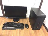 High Spec Office Computer PC, Setup with 22 inch Monitor (intel i5 6500, 12GB RAM, 500GB HD, Nvidia)