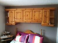 Overhead bedroom cupboards