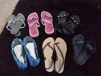 Ladies sandles summer shoes bundle size 6 7 womens footwear carboot joblot