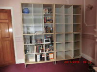 2 x very large, strong, heavy IKEA shelving living room/storage/display units. £50 each.
